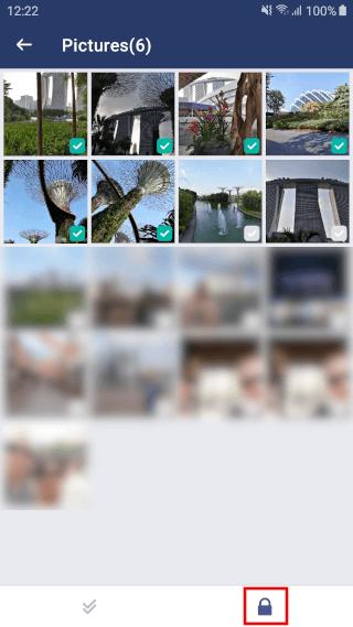 AppLock bestanden selecteren