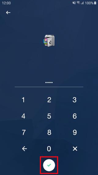 AppLock pincode invoeren