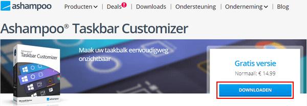 Ashampoo Taskbar Customizer downloaden