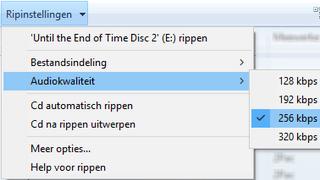 audiokwaliteit selecteren in windows media player