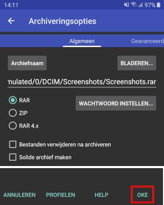 Bestanden en mappen beveiligen met een wachtwoord op een Android-telefoon met RAR