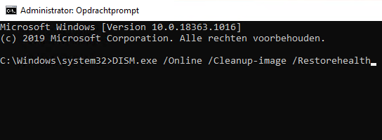 De DISM opdracht in Windows Opdrachtprompt