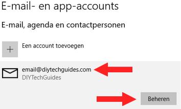 E-mailaccount beheren in Windows 10