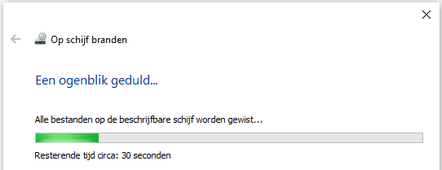 Een herschrijfbare CD of DVD wissen in Windows 10