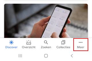 Google-app menu knop