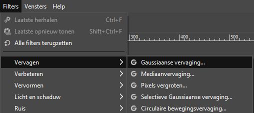 Maak een deel van een foto wazig met GIMP