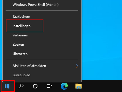 Open Instellingen in Windows 10