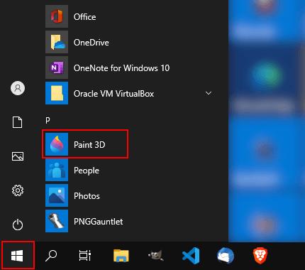 Paint 3D openen in Windows 10