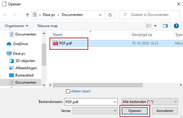 PDF bestand openen in LibreOffice