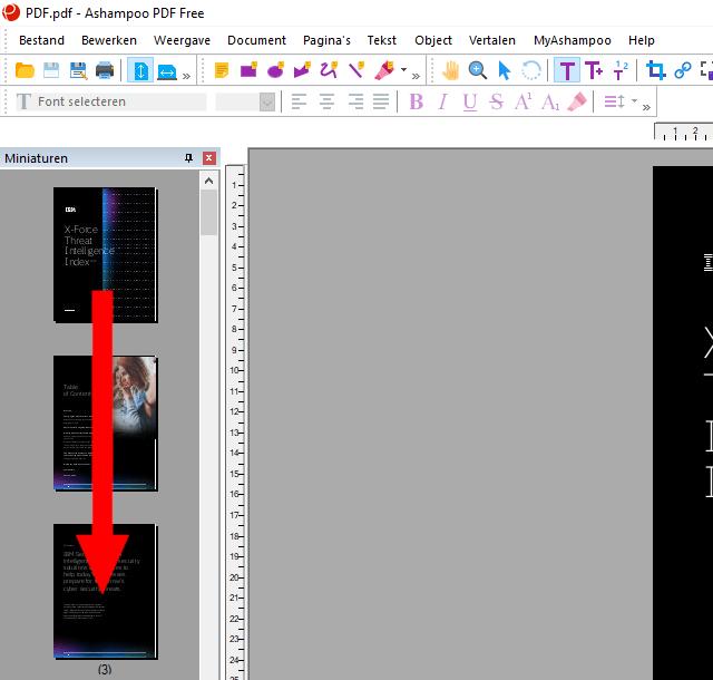 PDF pagina's herschikken in Ashampoo PDF Free