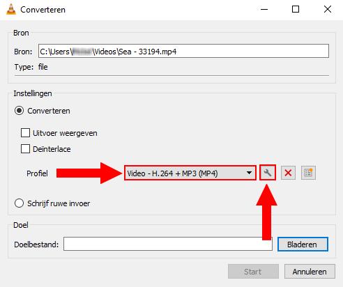 VLC converteren venster