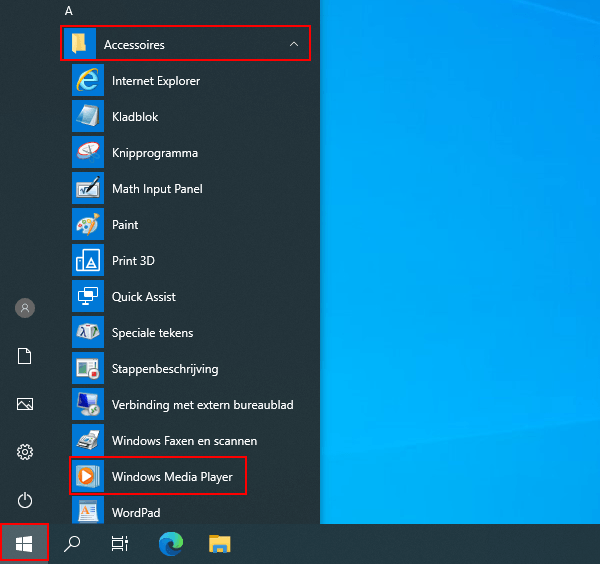 Windows Media Player openen in Windows 10